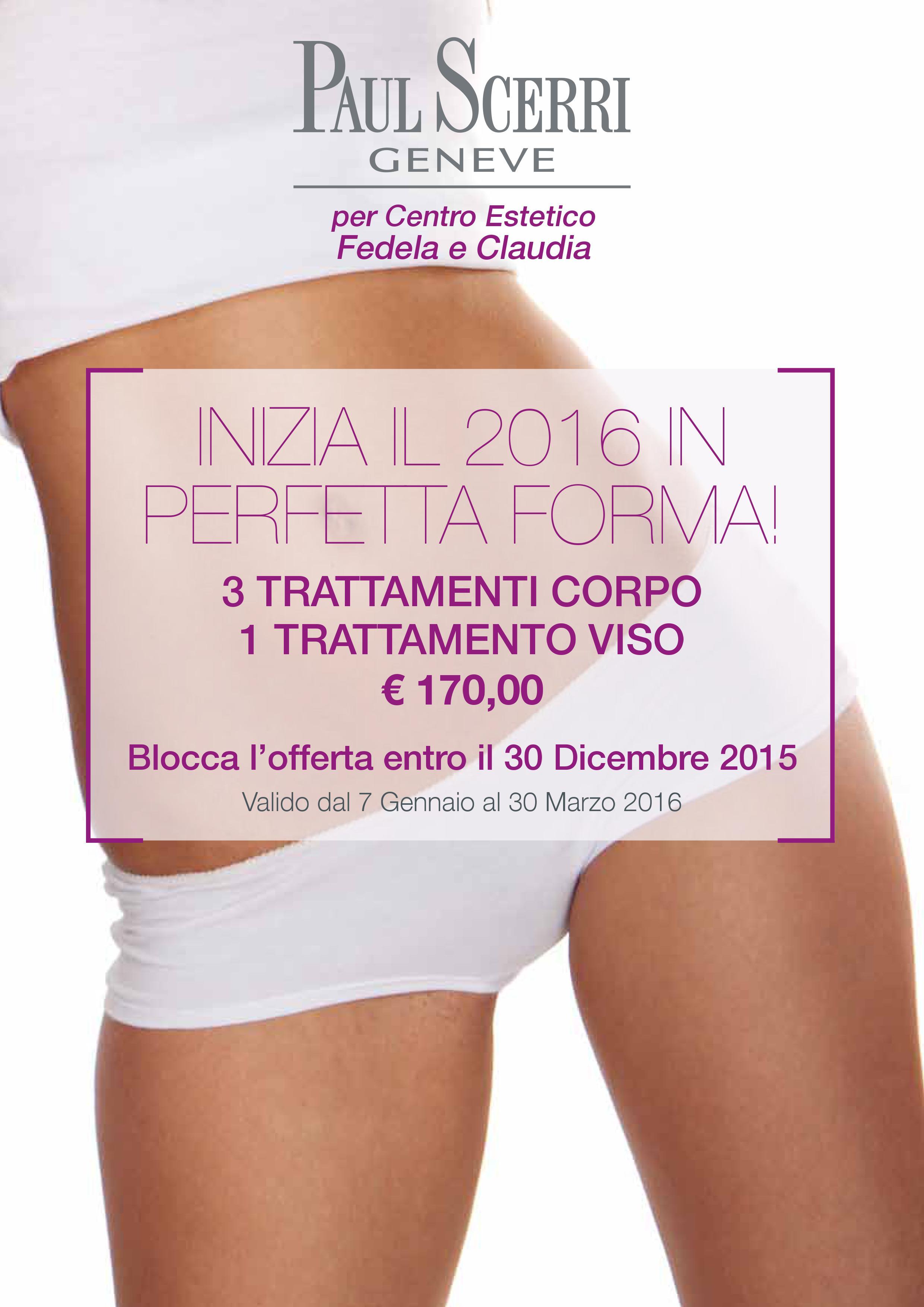 inizia il 2016 in perfetta forma. Attiva l'offerta presso il nostro centro di Cagliari in via Rossini 48 A o chiama per prenotare il trattamento allo 070494984.